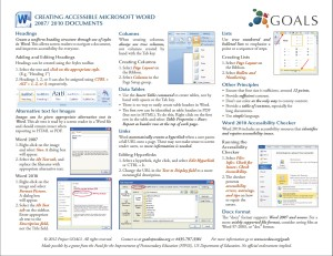 Screen Shot of MS Word Cheat Sheet